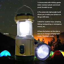 Mul-function Rechargeable Collapsible LED Solar Camping Light & Flashlight & USB