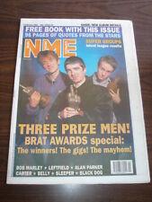 NME 1995 FEBRUARY 4 OASIS BLUR BOB MARLEY LEFTFIELD CARTER BELLY SLEEPER