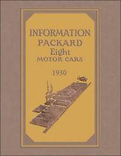1930 Packard 8 Owners Manual Standard Custom Deluxe Eight Guide 726 733 740 745