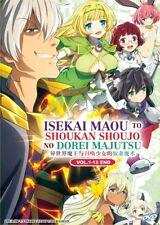 DVD Anime Isekai Maou to Shoukan Shoujo no Dorei Majutsu (1-12) English Audio