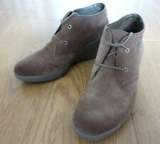 Clarks Active Air Ladies Wedge Heel Lace up Brown Suede Boots Shoes Size 7 UK
