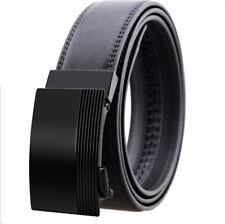 Amedeo Exclusive Hombre Cuero Auténtico Automático Cinturón Negro Talla Única