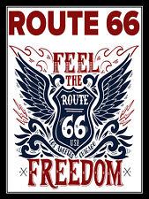 Route 66, Retro metal Aluminium Sign vintage / Garage