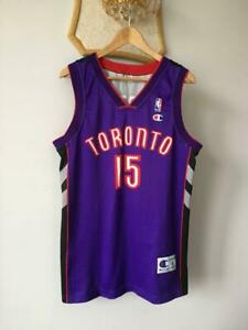 TORONTO RAPTORS NBA BASKETBALL SHIRT JERSEY VINTAGE CHAMPION VINCE CARTER #15