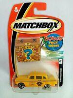 Matchbox Checker Taxi #4 Bonus Prize Card Yellow Diecast Car