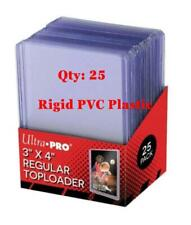 New Pack of (25) ULTRA PRO 3x4 Clear Rigid PVC Plastic Top Loaders FAST SHIPPING