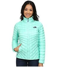 THE NORTH FACE WOMENS THERMOBALL JACKET FULL ZIP INSULATED SURF GREEN SIZE L NEW