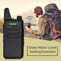 WLN KD-C1 Black 16 Channel Walkie Talkie Ham Radio UHF 400-470MHz MINI-Handheld