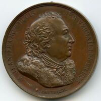 France Copper Medal 1816 Ducis French Dramatist Adapter of Shakespeare 40,5mm