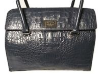 Kate Spade Orchard Valley Sinclair Shoulder Bag Tote Croc Embossed Leather Blue