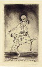 EX LIBRIS - DEATH GRABS A RICH MAN BY MAX SCHENKE