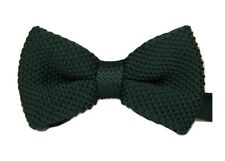Kid Boy Children PRE-TIED WEDDING EVENT PROM KINTTED BOW TIE CLIP UK SELLER
