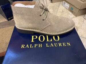 Polo Ralph Lauren Men Chukka Boots Talan Size US 7.5 Grey Suede