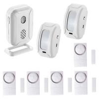 Welcome Chime Infrared IR Motion Detecotor Alarm 2 Sensors+Door Alarm Doorbells