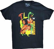 Men's Tlc No Scrubs Black T-Boz Left Eye Chilli Vintage Retro T-Shirt Tee New