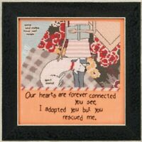 Curly Girl - Mill Hill - You Rescued Me - Cross Stitch Kit - CG30-1614
