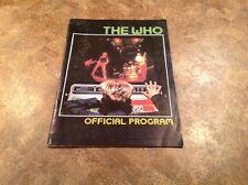 The Who 1982 Tour Schlitz Rocks America Program