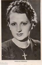 BD405 Carte Photo vintage card RPPC Femme woman chanteuse Mireille Ponsard