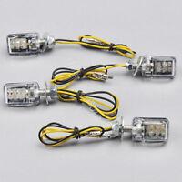 4x 6 LED Mini Motorcycle Dirt Bike Turn Signal Blinker Indicator Light 12V Black