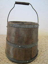 ANTIQUE, MARITIME SHIP WOODEN DECK WATER CASK