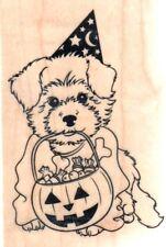 NEW INKADINKADO RUBBER STAMP Halloween cute dog treats costume puppy