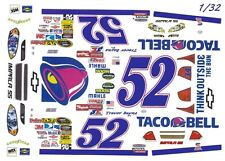 #52 Trevor Bayne Taco Bell 2009 1/32nd Scale Slot Car Waterslide Decals