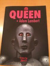 Queen + Adam Lambert European Tour Programme 2017