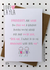 Greetings Card / Friends/ Birthday Card /Comedy /Love Layla / Funny/ Humour/ H26