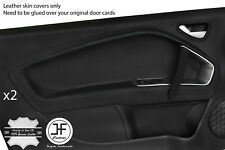 BLACK STITCH 2X FRONT DOOR CARD TRIM LEATHER COVERS FOR ALFA ROMEO MITO 08-17