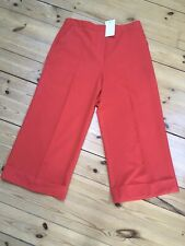 BNWT ASOS RED POLYESTER/VISCOSE WIDE LEG CULOTTES/CROPPED TROUSERS UK 14