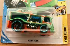 2020 Hot Wheels Chill Mill Fast Foodie 3/5 Card 18/250 Best for Track Green NIP