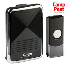 Knightsbridge Wireless Battery Door Bell Kit Polished Black - DC001
