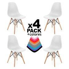 Due-home (nordik) - pack 4 sillas Tower silla Réplica blanco