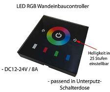 Touch Wand Einbau LED RGB 12V-24V Schalter Controller Dimmer rund Unterputzdose