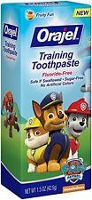 6 Pk Orajel Toddler Training Toothpaste Paw Patrol Tooty Fruity Flavor 1.50oz Ea