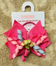 Gymboree Girls Hair Bobble / Tie With A Bow - Pink, Blue and Green - Brand New