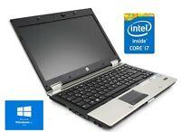 "CHEAP FAST HP EliteBook 2540p 12"" Core i7 2.13GHz 6GB 500GB Win 10  WiFi Laptop"