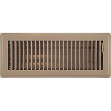 Beige Metal Ducted Heating Floor Vent Register Ducted Heating Cover 100x300mm