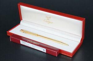 Cartier Vintage Rare Trinity Gold Ballpoint pen w/Box #C35