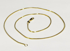 """14k Yellow Gold 18"""" MILANO Snake Pendant Chain Necklace 2.2 gram 1.1 MM"""