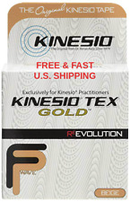 "KINESIO TEX FP Gold wave Tape, 2"" x 16.4' 1 Roll Clinical Pkg KINESIOLOGY TAPE"