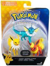 Pokemon Battle pose 3 Figure Pack-FLAREON, JOLTEON & VAPOREON-Neuf