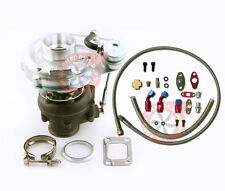 T3 T4 TO4E Turbo Turbocharger Kit + Oil Drain Return + Oil FEED Line Kit TCD