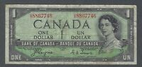 1954 (BC-29a) Bank of Canada One Dollar VG-F