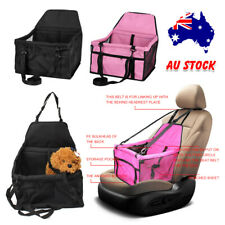 Portable Cat Dog Pet Booster Car Seat Bag Auto Carrier Breathable Solid Durable