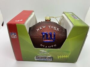 SC Sports Christmas Ornament NFL Wilson Football New York Giants Blown Glass New
