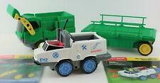 Rokenbok Remote Control Loader Dump Truck w Cargo Trailer & Emergency Speedster