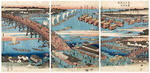Ando Utagawa Hiroshige Woodcut Giclee Canvas Print Paintings Poster Reproduction