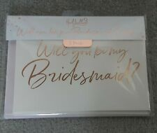 Will You Be My Bridesmaid Card pack Of 5
