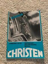 Christen 1-31/52 Drill Point & Step Drill Grinding Machine Sales Catalog, Swiss